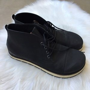 Men's Altra Smith Leather Boots Black Lace Up 12.5